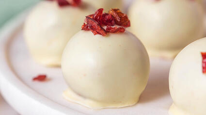 medjool date cranberry orange truffles