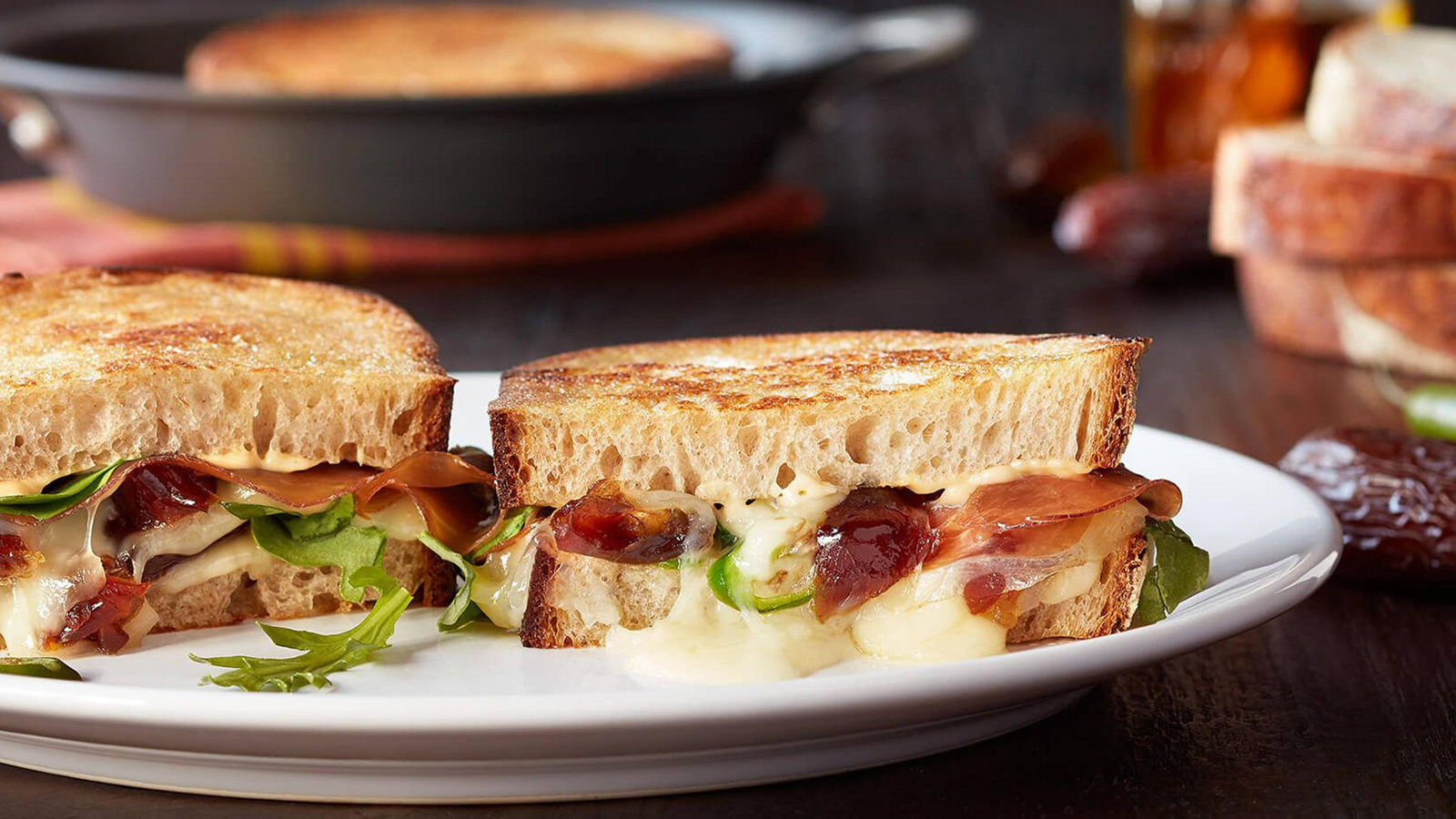 spicy grilled cheese with medjool dates