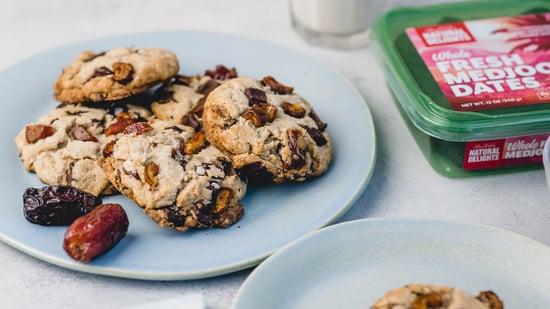 tahini medjool date cookies