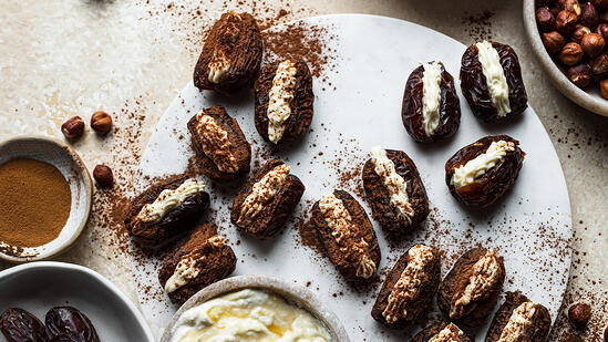 tiramisu stuffed medjool dates