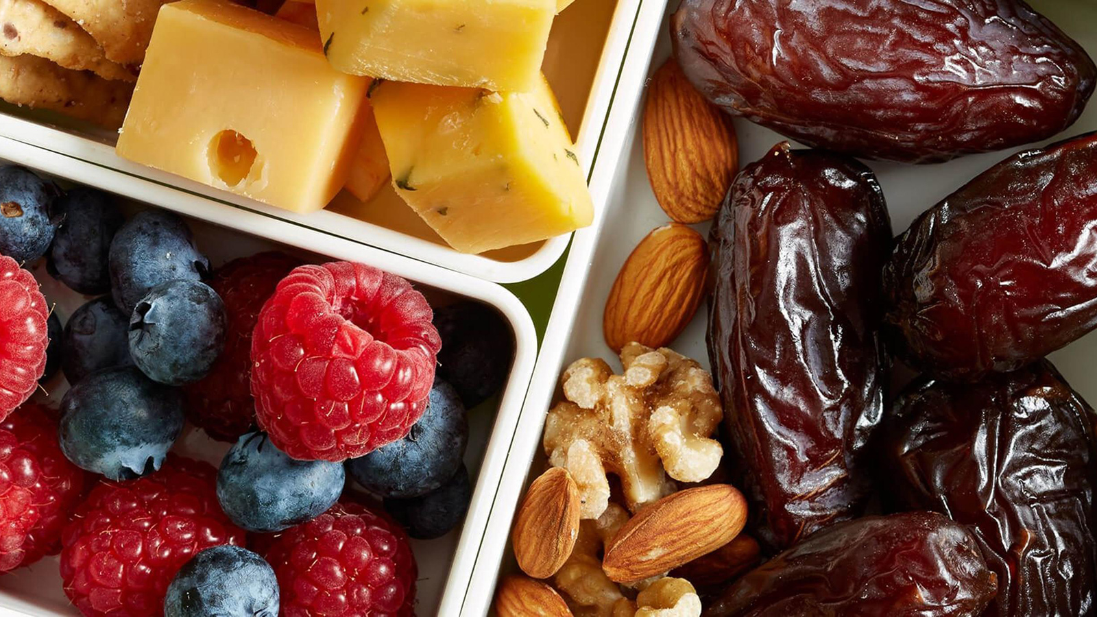 medjool date fruit nut and cheese plate