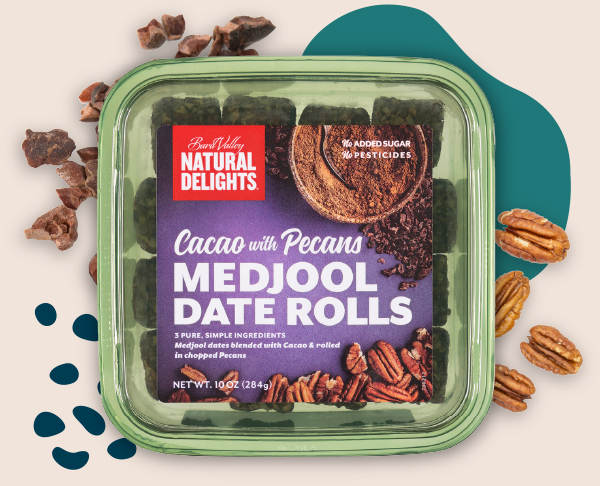 Natural Delights Cacao with Pecans Medjool Date Rolls