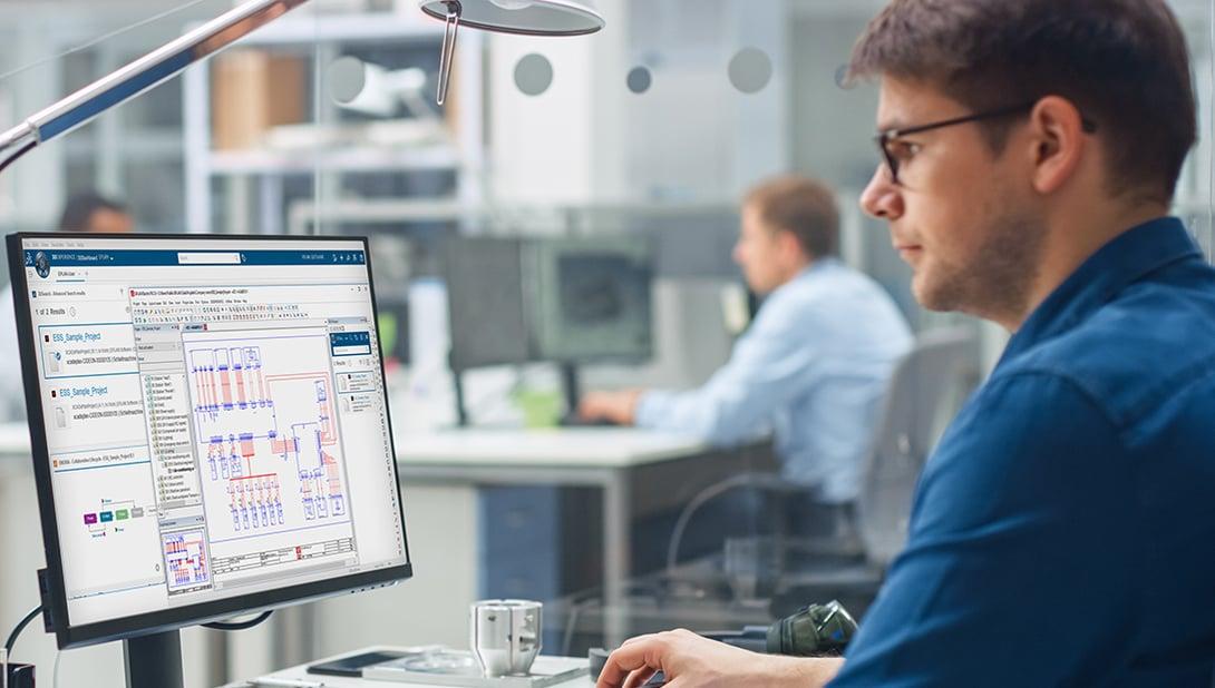 Der PLM 3DExperience Connector automatisiert die projektbezogene Zusammenarbeit zwischen Eplan und  3DExperience von Dassault Systèmes.