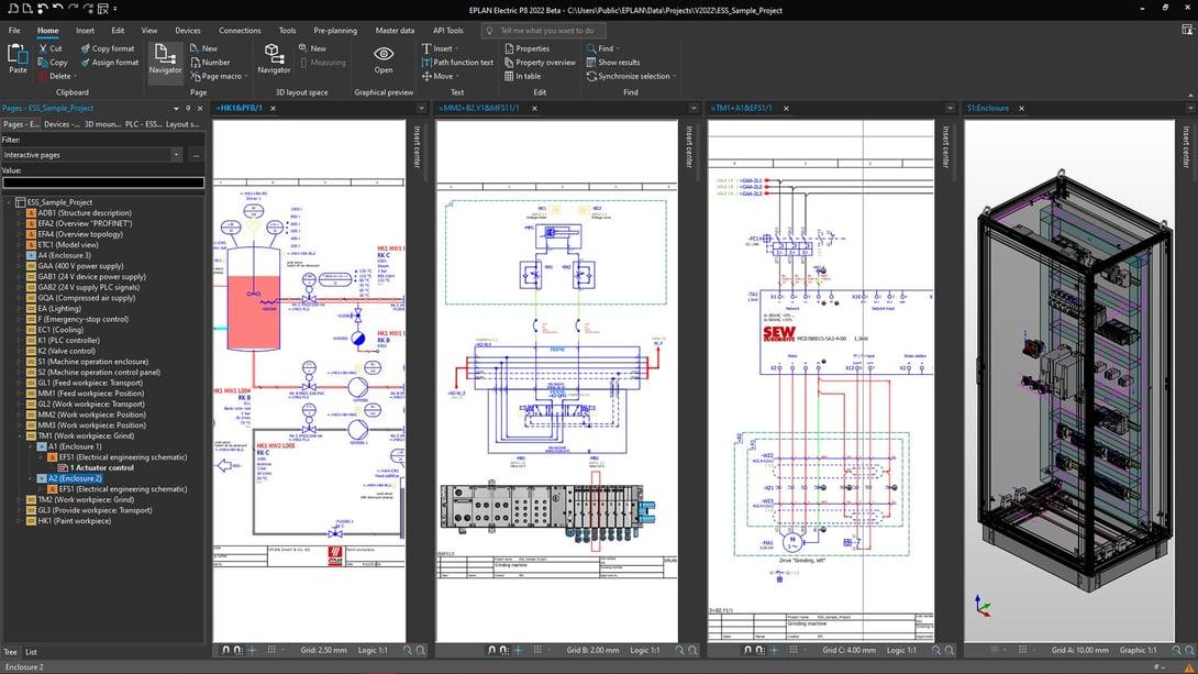 Interdisziplinäres Engineering – von Vorplanung über Elektro- und Fluidtechnik bis zum Schaltschrankbau - wird jetzt einfacher und übersichtlicher.