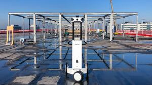 Scanning a construction project at one of Europe's busiest airports