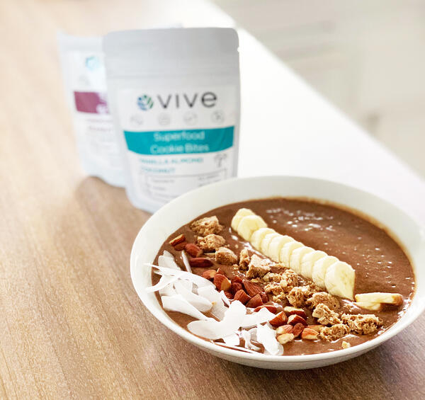 Re-VIVE Chocolate Almond Coconut Smoothie Bowl