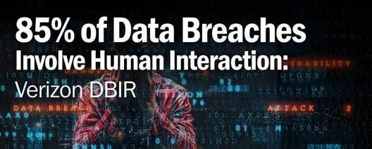 85% of Data Breaches Involve Human Interaction: Verizon DBIR