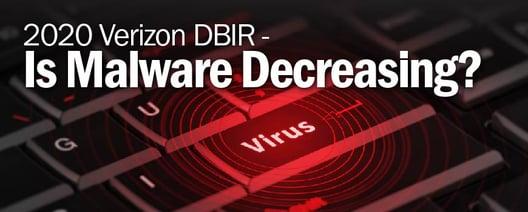 2020 Verizon DBIR - Is Malware Decreasing?