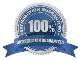 satisfaction guarantee blue
