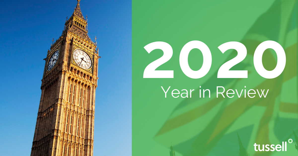 An image showing Big Ben and Victoria Tower with the text '2020 Year in Review'