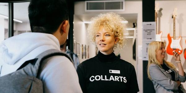 Collarts Future Student team talking to student