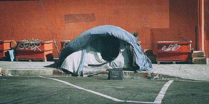 Tent on street