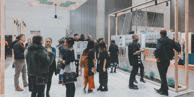 People attending Denfair event