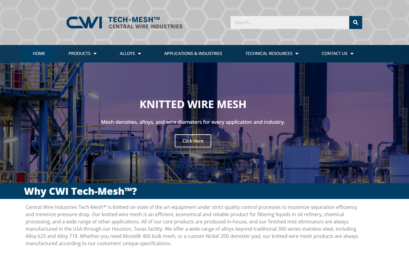 CWITECH-MESH.COM: Knitted Wire Mesh for All Applications