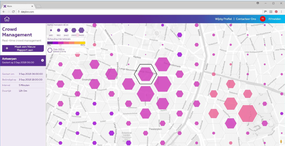 Location insights solution for Proximus MyAnalytics