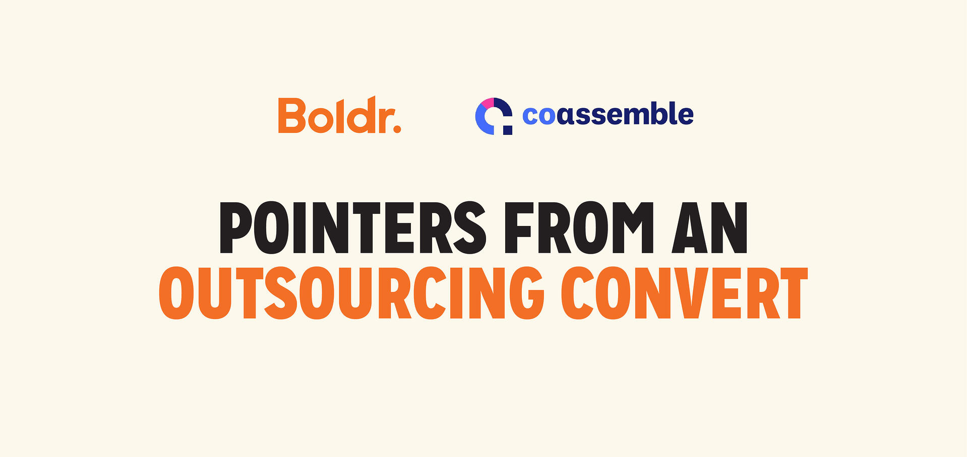 Client Story: Coassemble—Pointers from an Outsourcing Convert