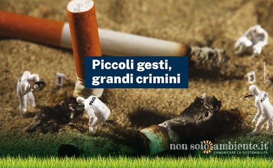 Piccoli gesti, grandi crimini: la campagna Marevivo contro i mozziconi abbandonati