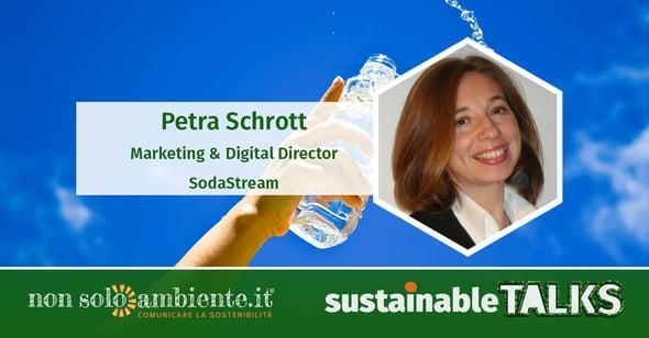 #SustainableTalks: Petra Schrott di Sodatream Italia