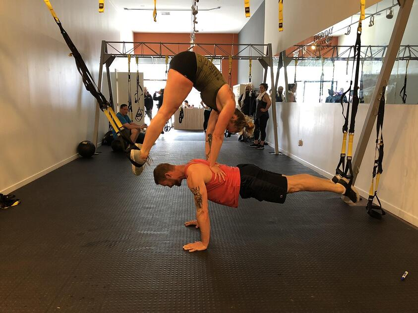 WHAT'S YOUR BEST TRX PARTY TRICK?