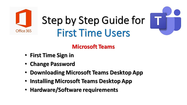 Basic Steps for First-Time Microsoft Teams Users