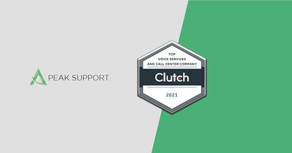 Clutch Award For Top Voice Services and Call Center Company