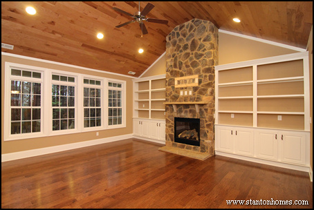 Custom home building and design blog home building tips for House plans with fireplace in center of house