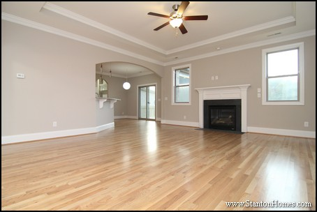 Fireplaces With Wainscoting Accents North Carolina New