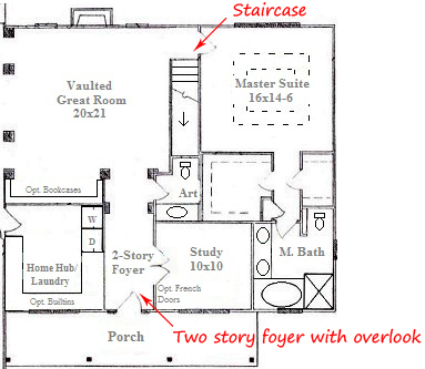 Double Staircase Foyer House Plans Two story floor plans chapel
