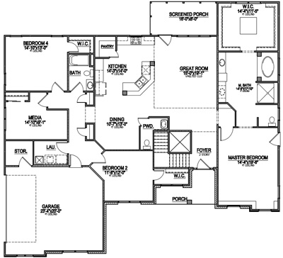 Most popular floor plans of 2014 Most popular one story house plans