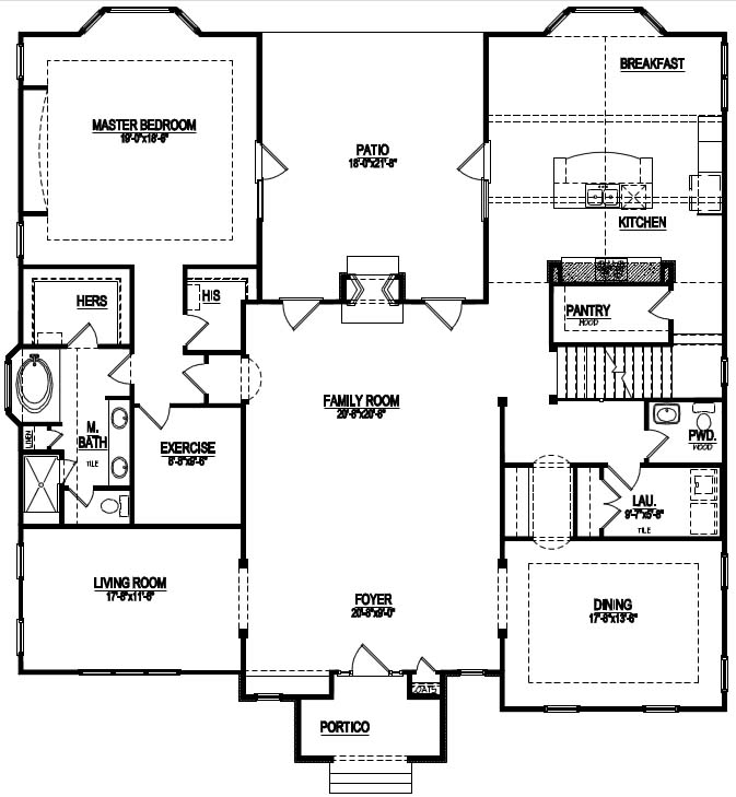 Hidden Staircase Floor Plans for Raleigh NC New Homes on house plans with house, house plans with normal, house plans with gym, house plans with pool, house plans with kitchen,