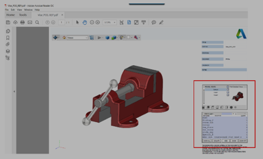 Autodesk Inventor Exporting Parts & Assemblies to 3D PDF
