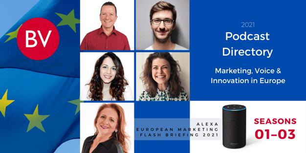 PODCAST DIRECTORY | Alexa European Marketing Flash Briefing | SEASONS 01–03