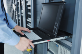 Data center rack keyboard