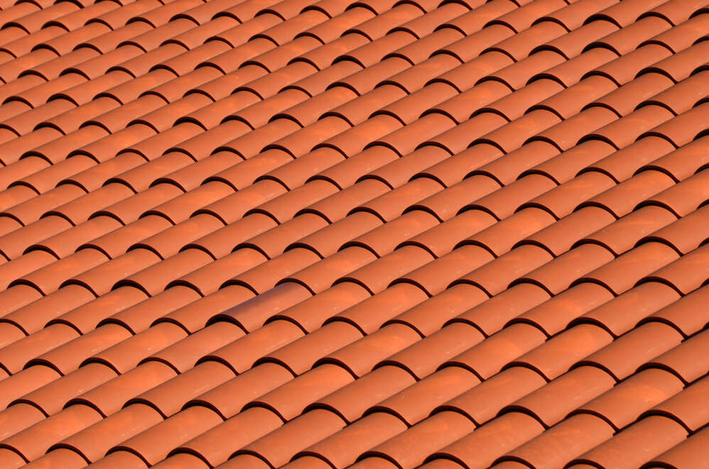 a red tiled terracotta roof