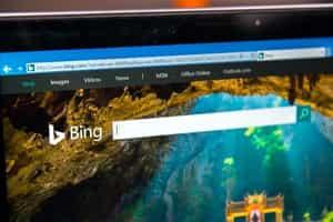 Screenshot of Bing search engine