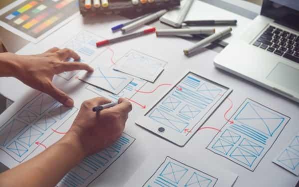 UX design on paper