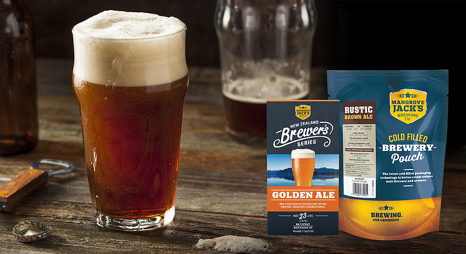 Mangrove Jack's Brewers Golden Ale with Rustic Brown Ale Pouch