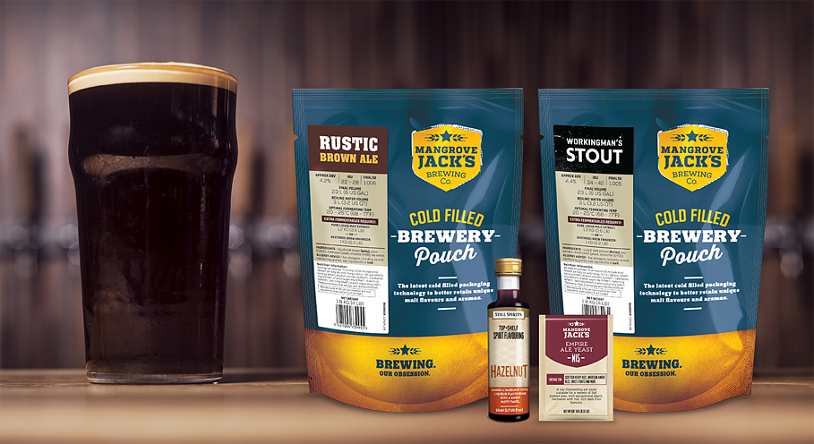 Mangrove Jack's Rustic Brown Ale, Workingmans Stout and M15 Yeast