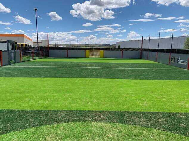 wide angle view of the mini-pitch small training soccer park