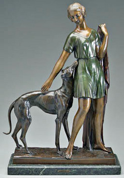 Representative Art Deco bronze sculpture