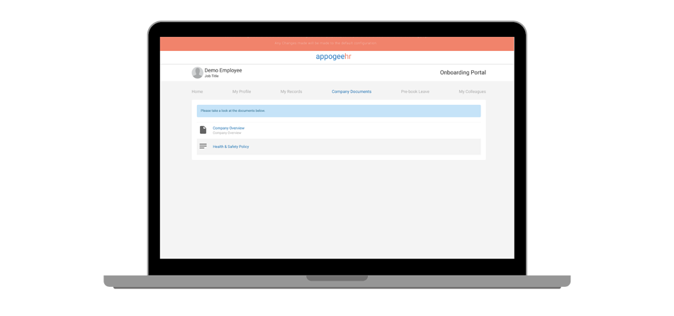 Company document onboarding