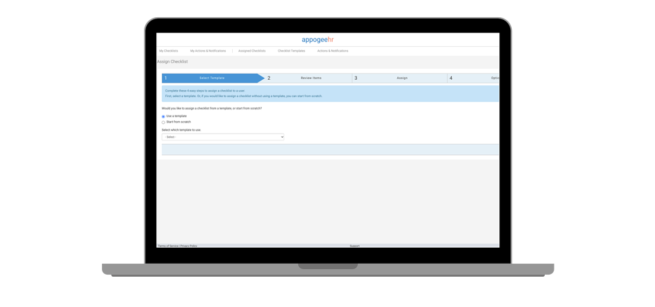 Checklists and workflows