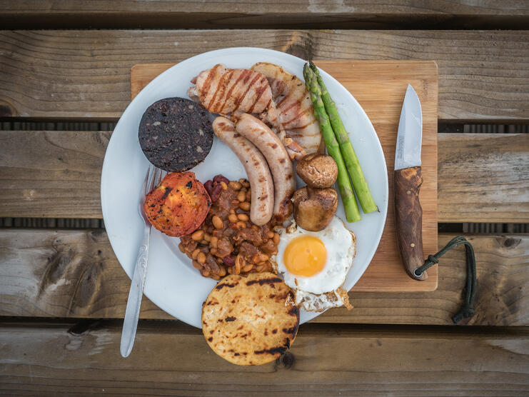 The Ultimate Campfire Cooked Breakfast - Main Image
