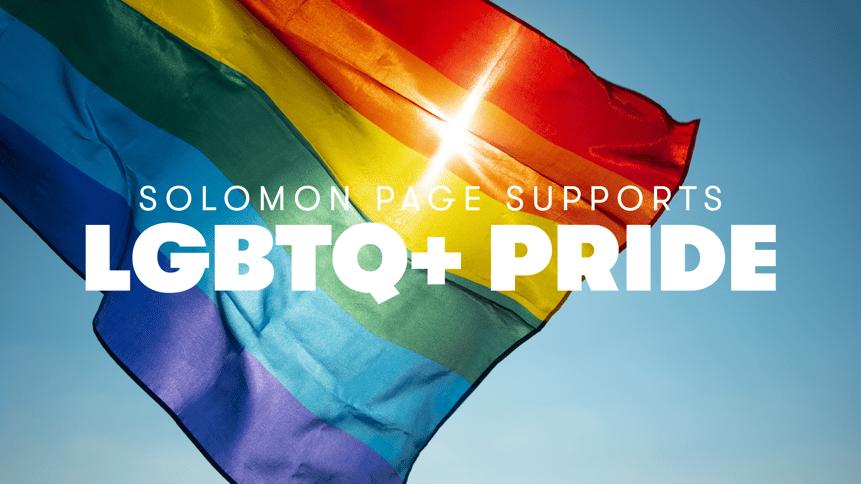 Solomon Page Supports LGBTQ+ Pride