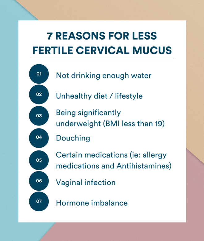 Why am I not getting pregnant? Little or no fertile cervical mucus?