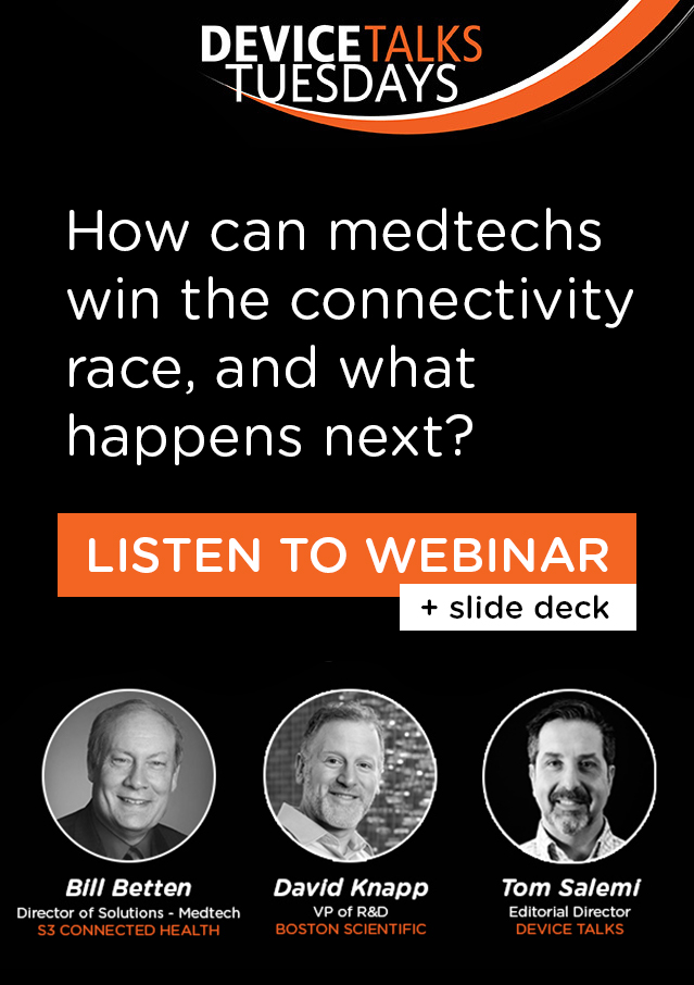 Webinar: How can medtechs win the connectivity race, and what happens next?