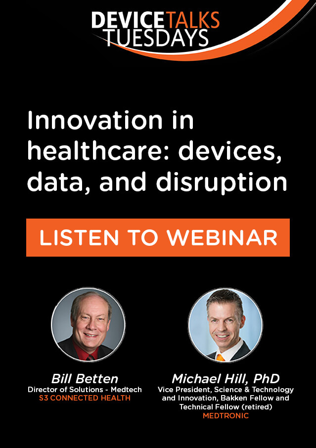 Webinar: Innovation in healthcare - devices, data, and disruption