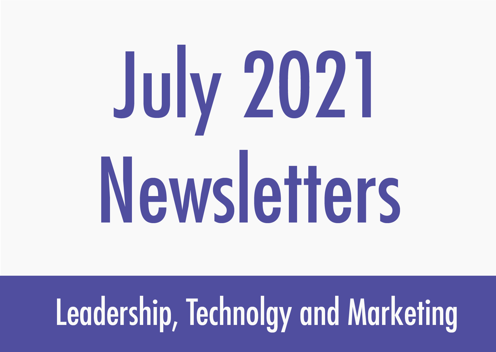 July newsletters