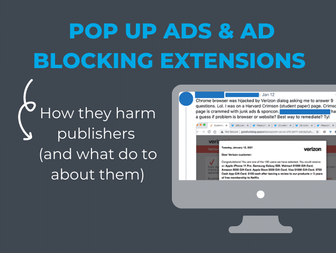 How Pop Ups and Ad Blocking Extensions Hurt Publishers (and What To Do About Them)