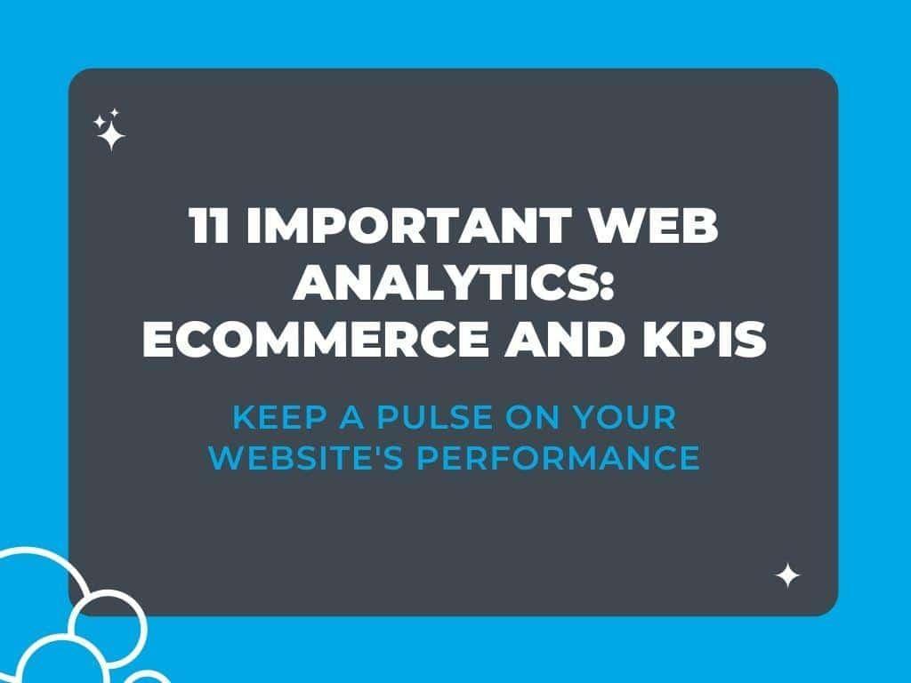 11 Important Web Analytics: Ecommerce and KPIs